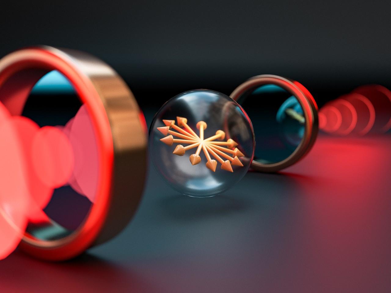 Visual representation of a spin echo signal.
